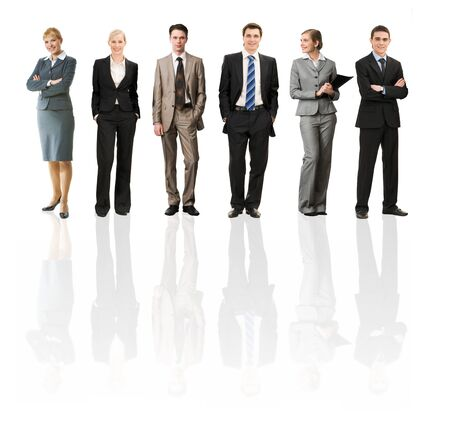 Collage of several business people in different poses Stock Photo - 7458250