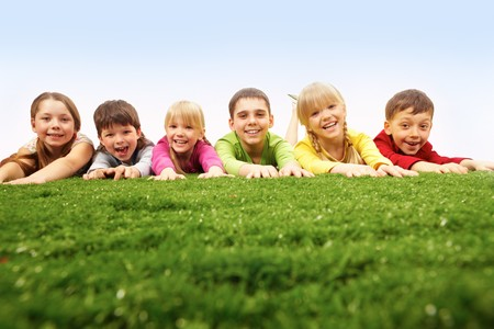 Friends on green lawn Stock Photo - 7602174