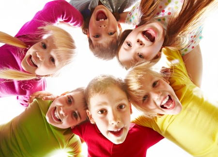 Image of happy kids representing youth and fun Stock Photo - 7602159