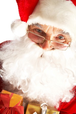 Photo of Santa Claus in eyeglasses looking at camera Stock Photo - 7602214
