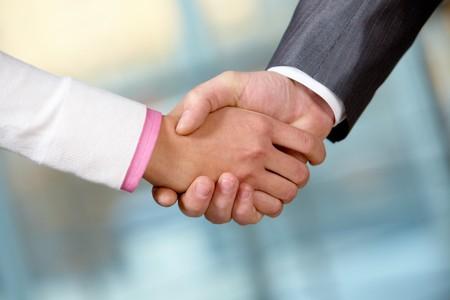 Image of partners handshake while striking deal Stock Photo - 7882325