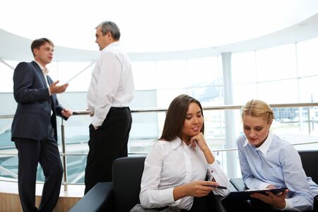 business people interacting at meeting  Stock Photo - 7965029