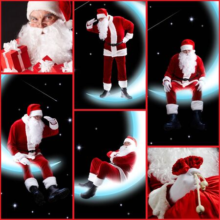 Collage of six image with Santa Claus Stock Photo - 7965363