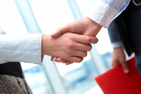 Image of business handshake after signing new contract Stock Photo - 7965018