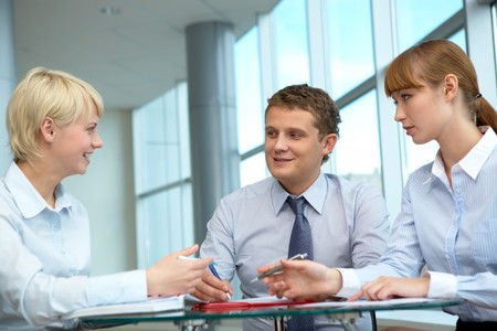 Photo of confident employees working in office Stock Photo - 8075206