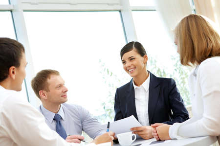 Photo of confident employees working in office Stock Photo - 8212330