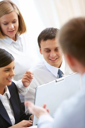 Photo of business people working in group Stock Photo - 8212334