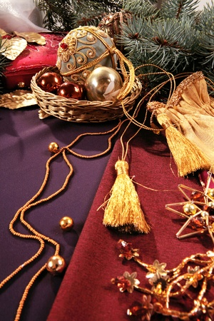 bedeck: Image of elegant simple christmas objects