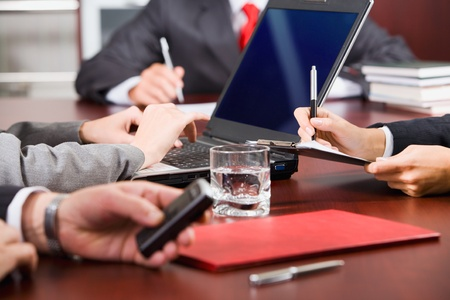 daily room: Typical business day in a conference room