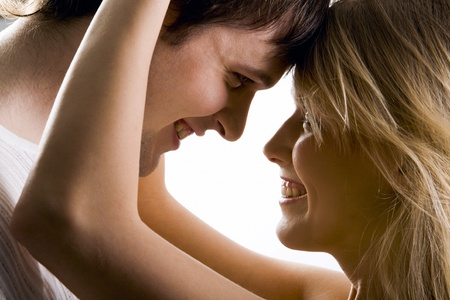 Young loving couple looking to each other Stock Photo - 8313149