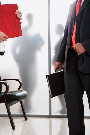 Business people are standing in the office photo