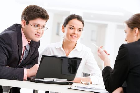 Employees planning work and interacting Stock Photo - 8393486