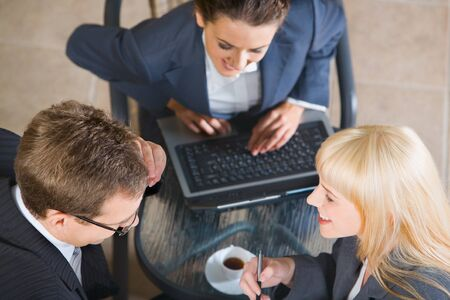 Photo of confident smiling people at business meeting Stock Photo - 8393748