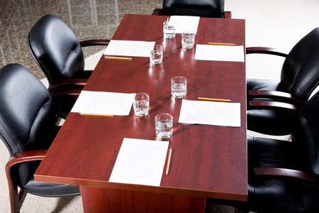 Image of empty business conference room before seminar Stock Photo - 8394735