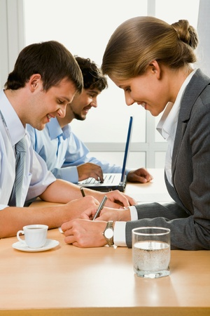Business people at work photo