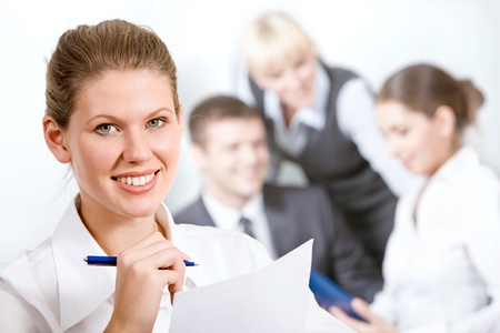 Portrait of wonderful employee in a working environment Stock Photo - 8398863