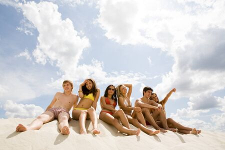 Image of young people relaxing during vacation  photo