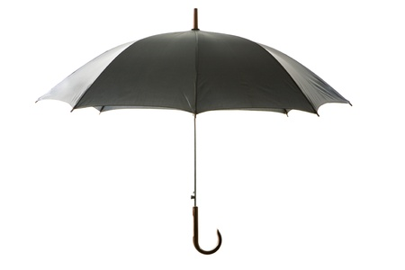 Image of simple black umbrella over white background Stock Photo - 8441209