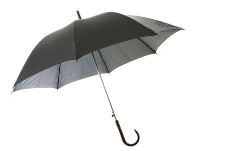 Image of classic elegant black umbrella over white background Stock Photo - 8441208
