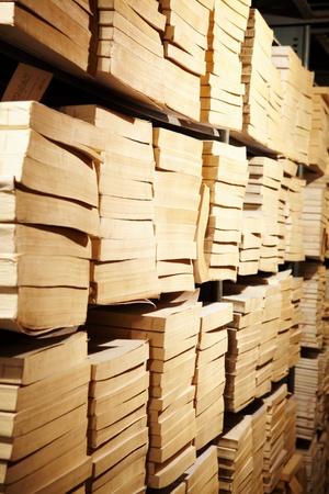 educational institution: Photo of bookshelves in library of educational institution Stock Photo