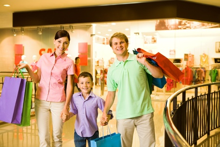Portrait of husband and wife with their son in trade center Stock Photo - 8507950