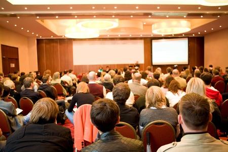 Moskau - Oktober 2: Konferenz Stock in Russland 09 Oktober 2, 2009, Holiday Inn Lesnaya