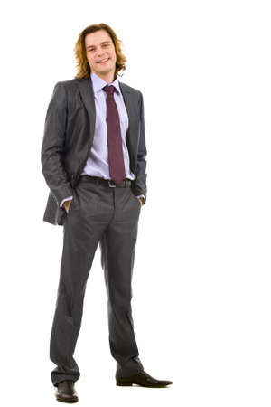 Vertical image of successful businessman in elegant suit looking at camera Stock Photo - 8526919