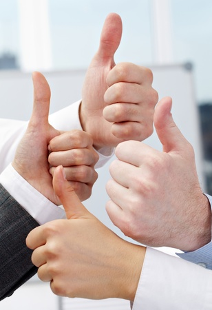 Human hands showing sign of okay Stock Photo - 9262953