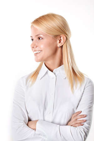 Profile of cheerful businesswomen  Stock Photo - 9263149