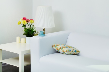 Empty room with white furniture photo