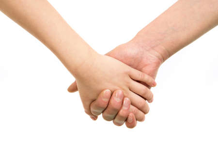Image of mom's hand holding the one of her child Stock Photo - 9368283