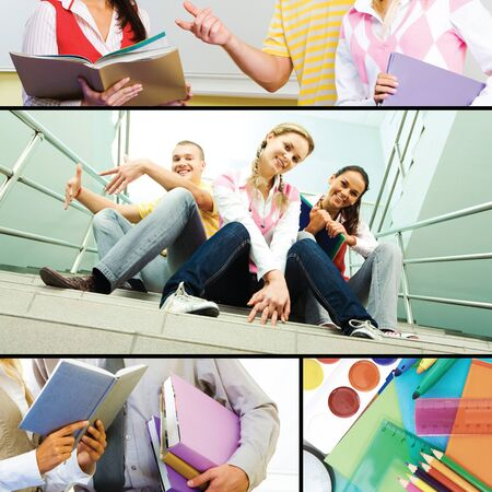 Collage of students� life in the college  photo