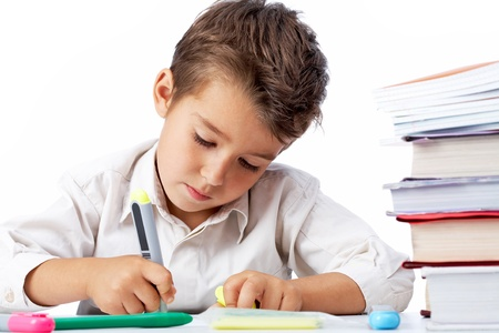 diligent: Diligent pupil Stock Photo