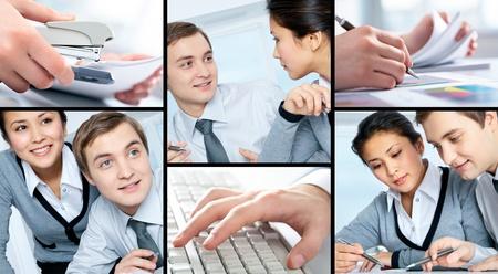 Collage de imágenes de un pesebre y su Secretario Foto de archivo - 9402724