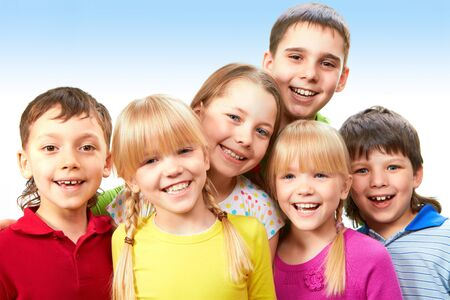 Group of adorable boys and girls together Stock Photo - 9410539