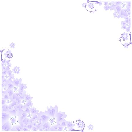 Vector illustration of lilac angular frame  Vector