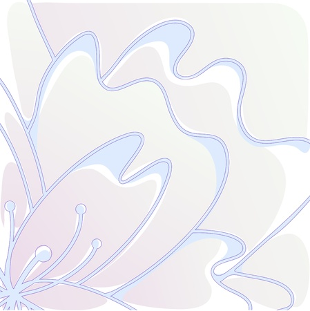 illustration of stylized flower of pastel shades Vector