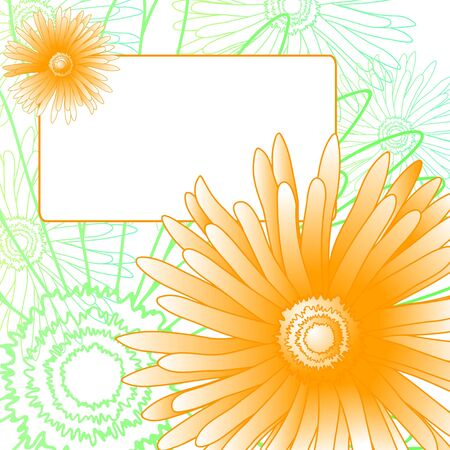 Spring invitational card with beautiful flowers Vector