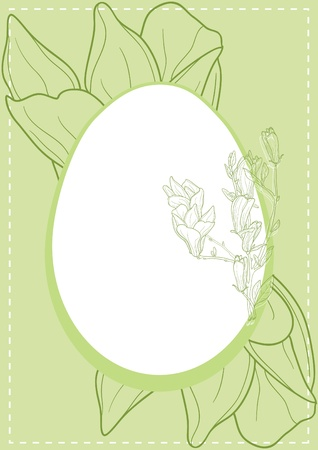 Vector illustration of Easter egg on green background Vector