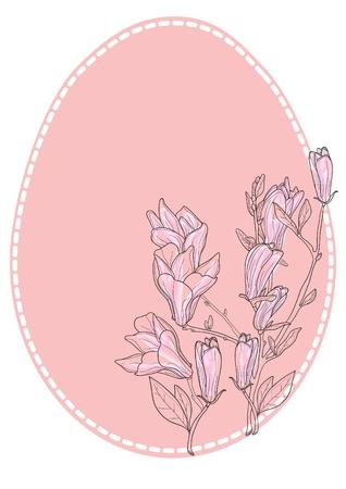 Vector illustration of Easter floral egg Vector