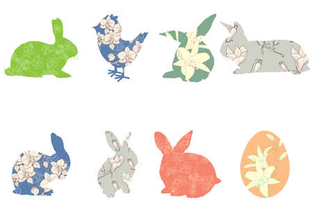 abstract: Set of symbols connected with Easter  Illustration