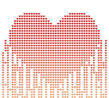 corazon: Vector illustration of digital style heart