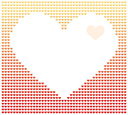 corazon: Vector illustration of digital image of heart