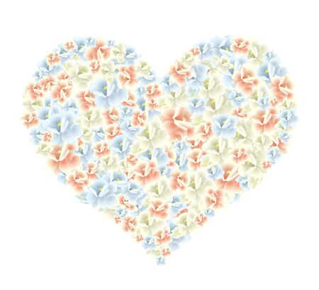 corazon: Vector illustration of a huge heart made of flowers