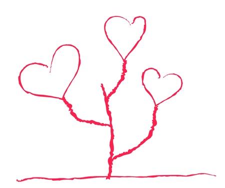 heartshaped: Vector illustration of heart-shaped flower in childish manner Illustration