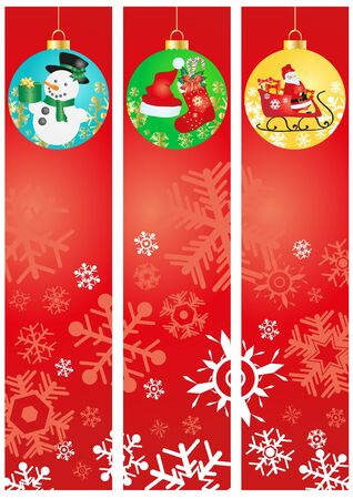 Vector illustration of Christmas banners Vector