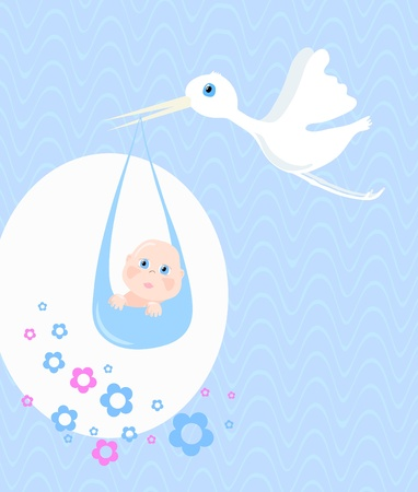 baby delivery: Delivery of baby, vector illustration
