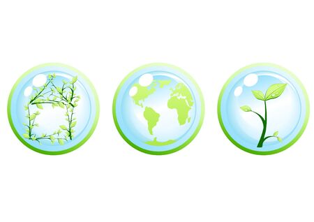 Vector illustration of ecology green concept Stock Vector - 9428148