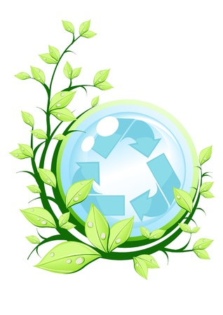 recyclable: Vector illustration of recycle concept