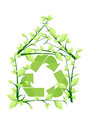 fresh air: Vector illustration of house recycle
